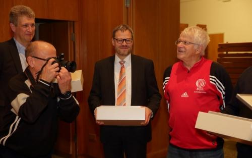 Thomas Winterhalter, Klaus Ehinger 35 Jahre Schiedsrichter