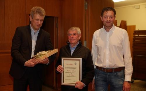 Ehren BSO Dietmar Bohnert 45 Jahre Schiedsrichter